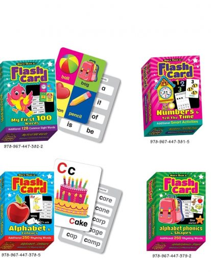 More Than A Flash Card – Combo Set 1