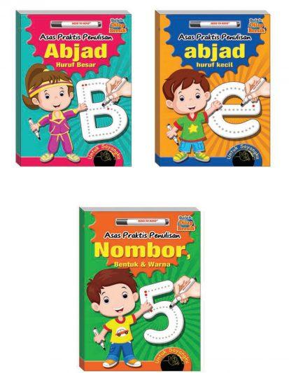 ASAS PRAKTIS PENULISAN ABJAD & NOMBOR (SET OF 3)