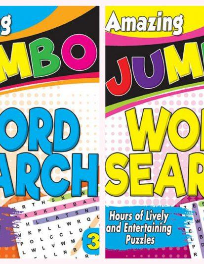 Amazing Jumbo- Word Search Combo Pack 2
