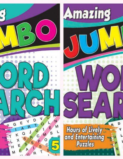 Amazing Jumbo- Word Search Combo Pack 3
