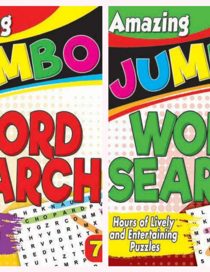 Amazing Jumbo- Word Search Combo Pack 4