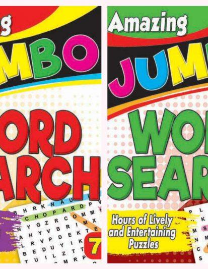 Amazing Jumbo- Word Search Combo Pack 4