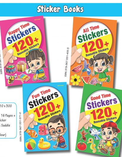 Sticker Books (Set Of 4)