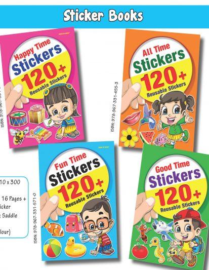 Sticker Books (Set Of 4)