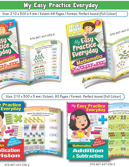 My Easy Practice Everyday – Mathematics (Set Of 4)