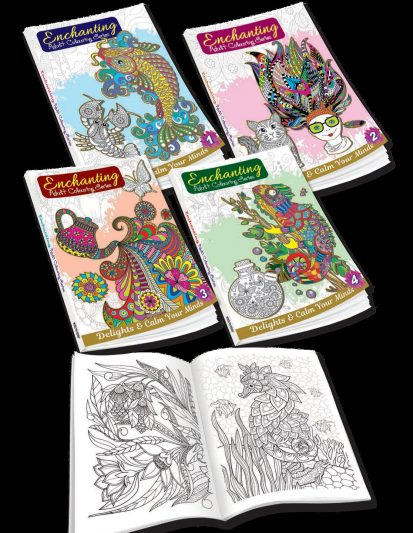 Enchanting Adult Colouring Series (Set Of 4)