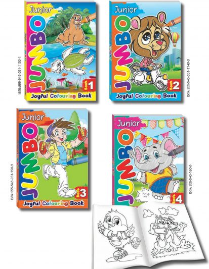 Junior Jumbo Colouring Books (Set Of 4)