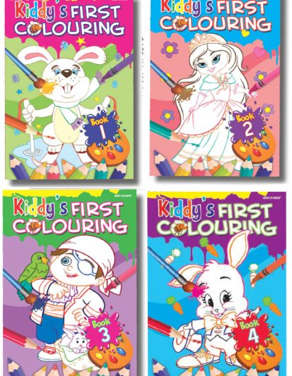 Kiddy's First Colouring (Set Of 4)