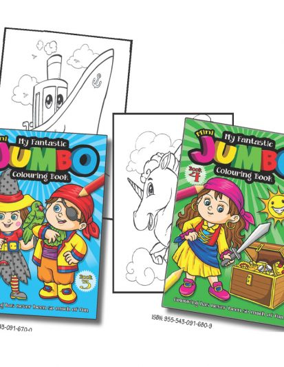My Fantastic Mini Jumbo Colouring Book – Combo Pack 2