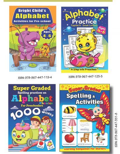 Alphabet & Spelling Activities (Set Of 4)