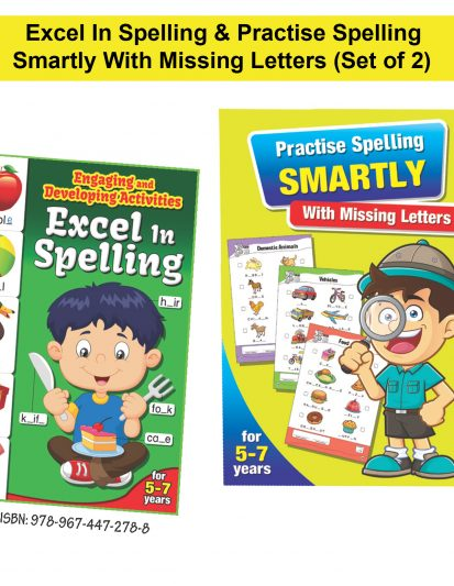 Excel In Spelling & Practise Spelling Smartly With Missing Letters (Set Of 2)