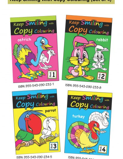 Keep Smiling With Copy Colouring (Set Of 4)