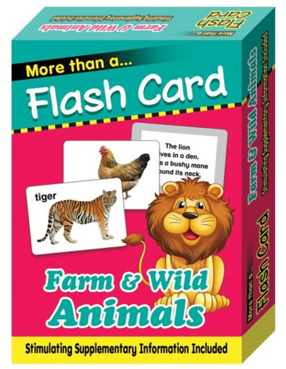 FLASH CARD FARM & WILD ANIMALS
