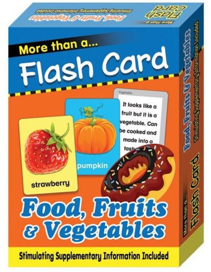 FLASH CARD FOOD, FRUITS & VEGETABLES