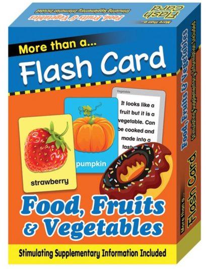 FLASH CARD FOOD, FRUITS & VEGETABLES