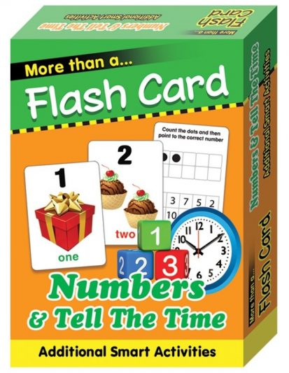 FLASH CARD NUMBERS & TELL THE TIME
