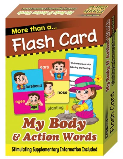 FLASH CARD MY BODY & ACTION WORDS