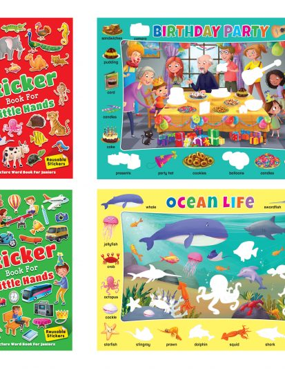 STICKER BOOKS FOR LITTLE HANDS (set Of 2)