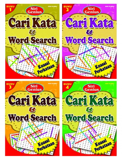 Siri Genius Cari Kata & Word Search (set Of 4)