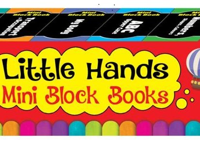 LITTLE HANDS MINI BLOCK BOOK SET